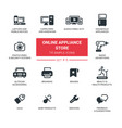 online appliance store - modern simple thin line vector image