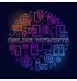 Online payments bright vector image vector image