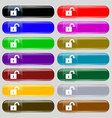 open lock icon sign Big set of 16 colorful modern vector image