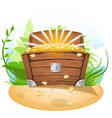 open treasure chest cartoon vector image