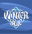 poster for winter sale vector image vector image