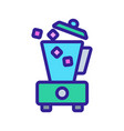 pour ice into blender icon outline vector image vector image