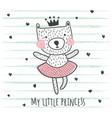 princess bear vector image vector image