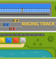 race car sport track curve road top view vector image vector image