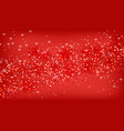 red glitter background realistic sparkling vector image vector image