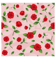 Red Roses Seamless Pattern vector image vector image
