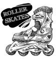 Roller-skates vector image