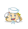 sailor sandwich character cartoon style vector image vector image
