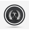 Scissors cut hair sign icon Hairdresser symbol vector image vector image
