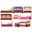 set children bed vector image