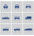 set of icon cars vector image