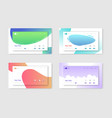 set of website templates landing page layouts vector image vector image