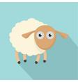 shocked sheep icon flat style vector image