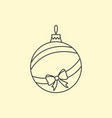simple christmas tree ball with ribbon and bow vector image