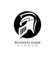 spartan logo template vector image vector image