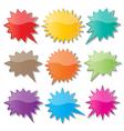 starburst speech bubbles vector image vector image