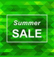 summer sale banner on abstract triangle background vector image