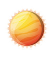 sun isolated solar system vector image vector image