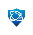 swoosh american football shield logo icon vector image vector image