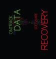 the brief history of ontrack data recovery text vector image vector image