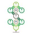 vertical timeline or infographics development vector image