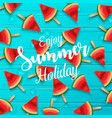 watermelon seamless background vector image vector image