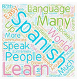Why Should I Learn Spanish text background vector image vector image