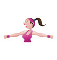 woman doing aerobics vector image vector image