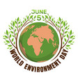 world environment day concept june 5 vector image