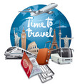 world travel and journey vector image vector image