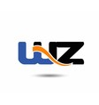 WZ initial company group logo vector image vector image
