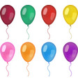 Realistic balloons set 3d balloon different vector image