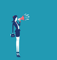 Women hands holding megaphone vector image