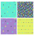 set of bright paint drops seamless patterns vector image