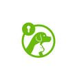 animal security logo icon design vector image vector image
