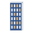 apartment building icon in color sections vector image vector image
