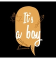 Baby shower boy inscription with doodle elements vector image vector image