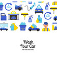 Background with car wash flat icons
