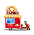 bakery street food caravan trailer truck van vector image