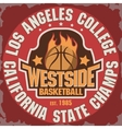 Basketball team emblem vector image vector image