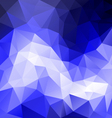 blue sky polygonal triangular pattern background vector image vector image