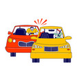 car accident or conflict on road drivers arguing