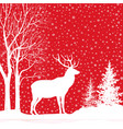 christmas holiday background snow winter vector image vector image