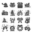christmas related icons set on white vector image vector image