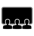 cinema icon black silhouette icon vector image vector image