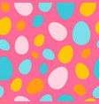 colorful different size eggs seamless pattern vector image vector image