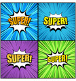 comic book pages super wordings set vector image
