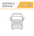 commercial truck line icon vector image