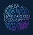 coronavirus quarantine circular blue linear vector image vector image