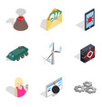 course icons set isometric style vector image vector image